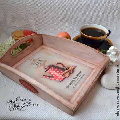 """Кухня ручной работы. Ярмарка Мастеров - ручная работа Поднос """"Завтрак для эгоиста"""". Handmade."""