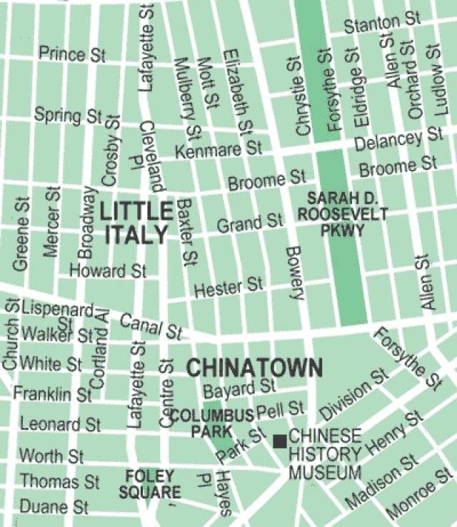 Get Around NYC's Chinatown and Little Italy with This Map: Chinatown / Little Italy: Manhattan Neighborhood Map