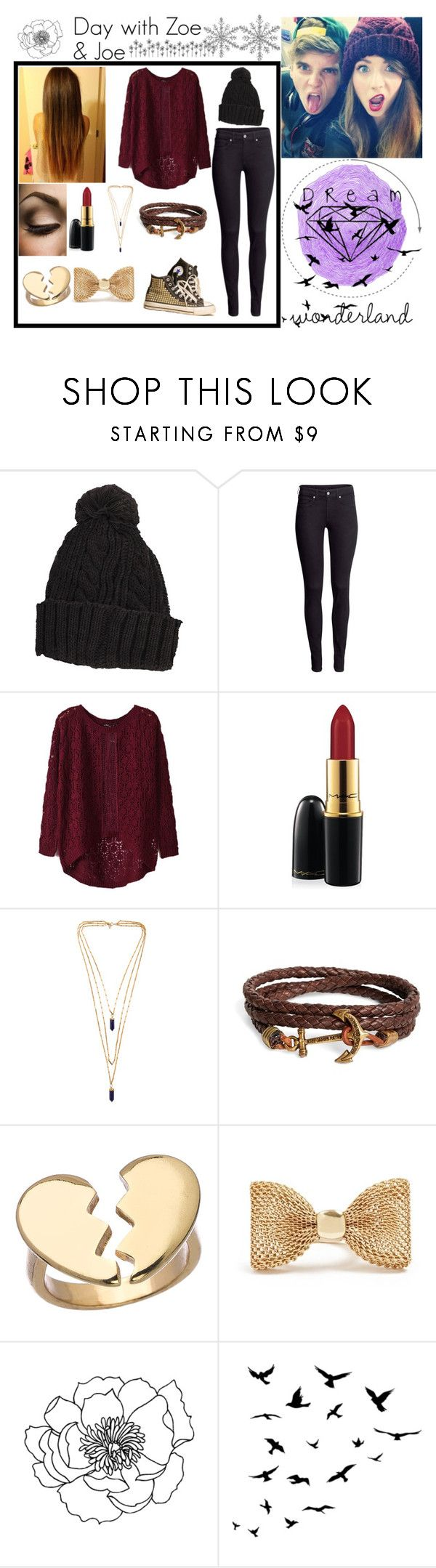 """""""Day with Zoe & Joe"""" by kennedey-lynn-freeman ❤ liked on Polyvore featuring H&M, MAC Cosmetics, Isabel Marant, Brooks Brothers, Blu Bijoux, GUESS and WALL"""