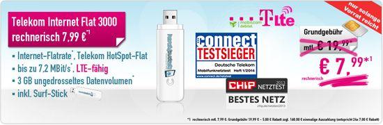 handy-bomber.de: Telekom Internet-Flat LTE 3000