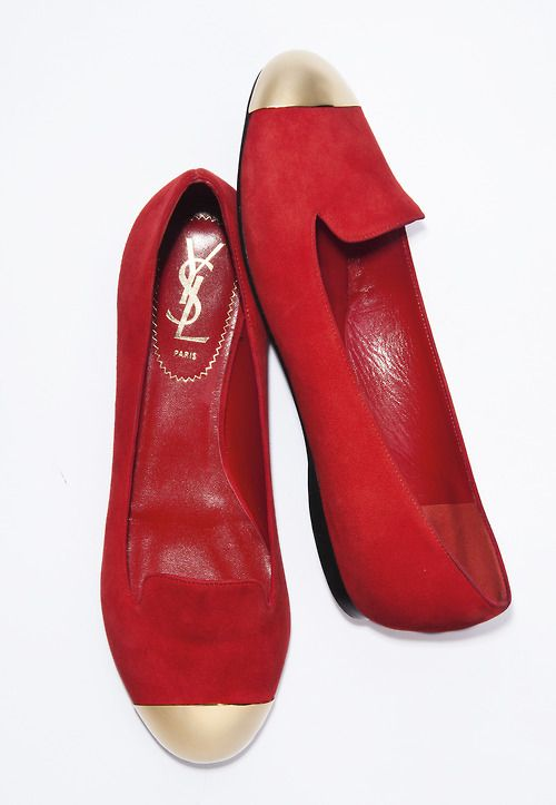 Yves Saint Laurent suede cap toe loafer: Yves Saint Laurent Shoes, Shoes Speaking, Fashion, Laurent Red, Red Flats, Red Shoes, Loafers Silhouette, Streamlin Loafers, Cap Increase