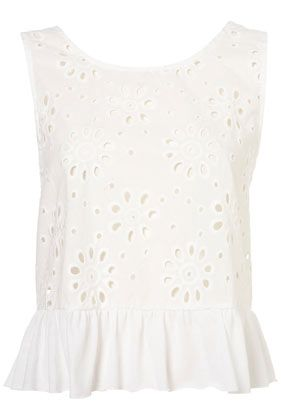lace peplum top with bow detailing from topshop... the back of this shirt is adorable!