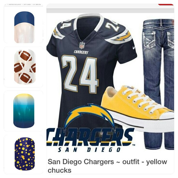 San Diego Chargers Football Team: 39 Best Nail Art: NFL: Jamberry Custom Wraps NAS Images By