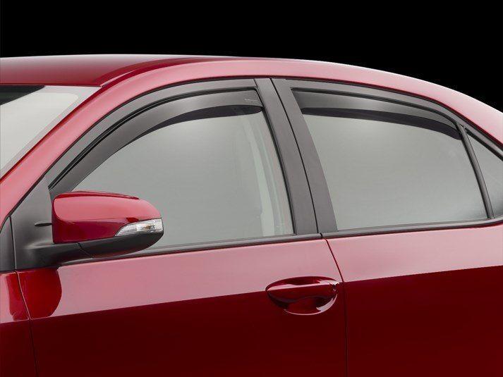 2014 Toyota Corolla Rain Guards Side Window Deflectors For Cars Trucks Suvs And Minivans Weathertech Mini Van Window Deflectors Best Compact Suv