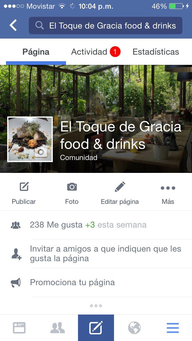 """Mi página """"el toque de Gracia food & drinks"""""""