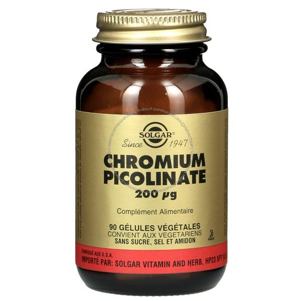 Chrome Picolinate 200 µg - 90 tablettes