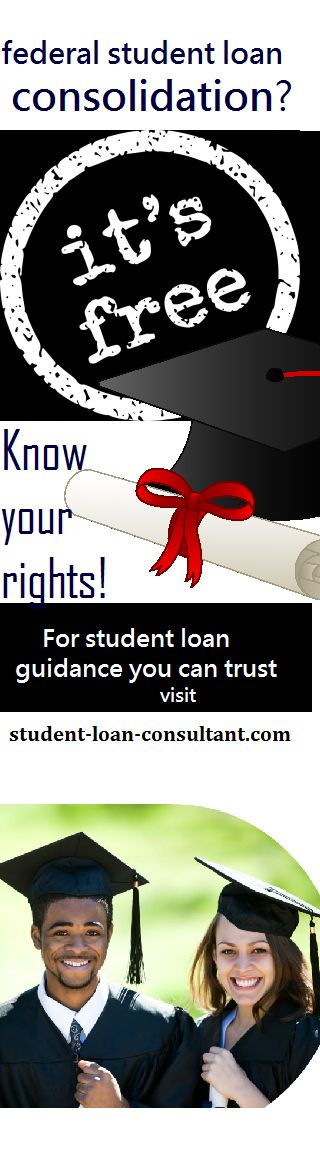 No need to pay a #debtrelief agency to #consolidate your #studentloans -- you can do it for FREE.