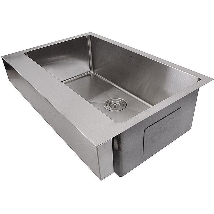 nantucket sinks ezapron33 55 patented design pro single bowl undermount stainless steel kitchen sink in. Interior Design Ideas. Home Design Ideas