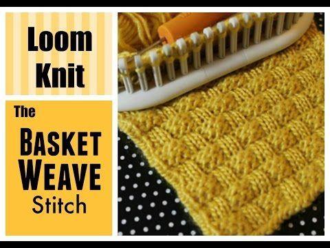 LOOM KNITTING STITCHES : Basket Weave Stitch on a Loom