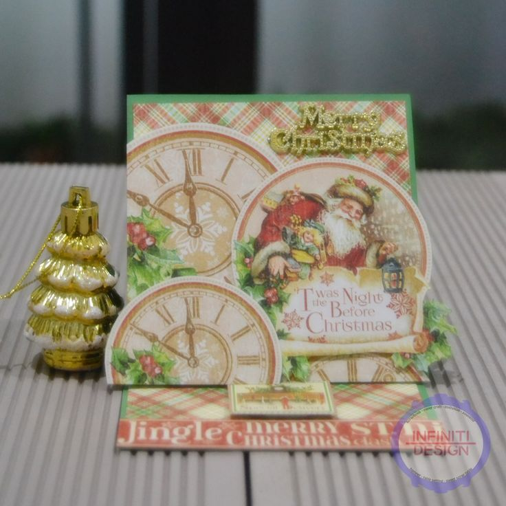 """easel card using G45 paper pad """"Twas The Night Before Christmas"""""""