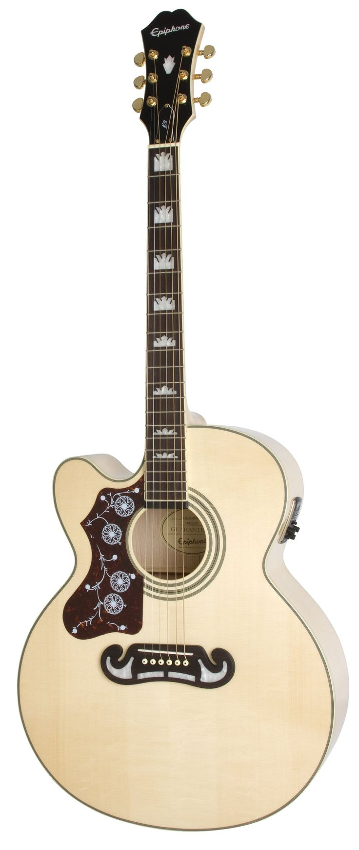 Epiphone EEJ4LNAGH3 Acoustic-Electric Guitar, Left Handed, Natural