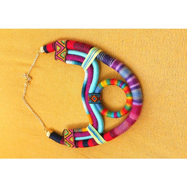 Multicolored African Jewelry ($78) ❤ liked on Polyvore featuring jewelry, african tribal jewelry, tribal jewelry, multicolor jewelry, african jewelry and button jewelry