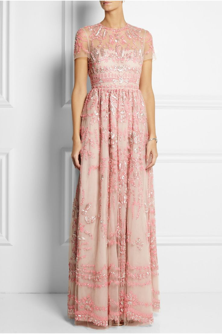 Valentino|Embellished tulle gown|NET-A-PORTER.COM