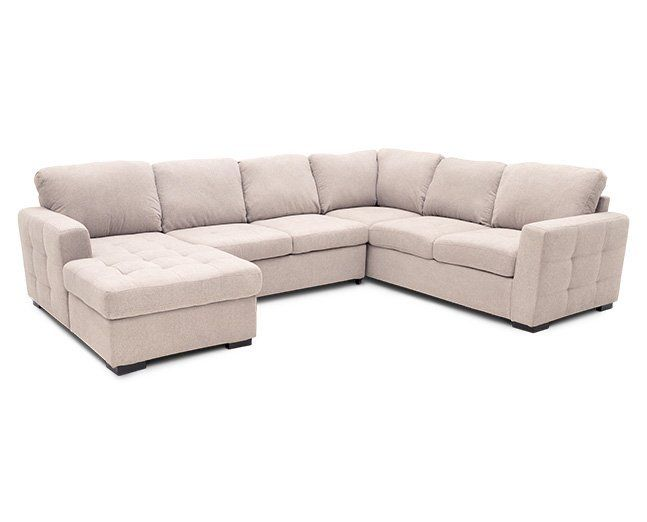 Caruso 3 Pc Fabric Sleeper Sectional Furniture Row Sleeper Sectional Sectional Rowe Furniture