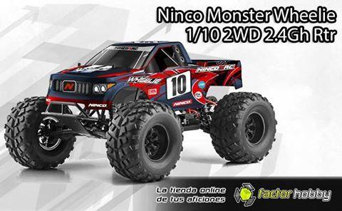 ¡NUEVO 🌟NINCO MONSTER WHEELIE🌟 1/10 2WD 2.4Gh!  El nuevo Monster Wheelie escala 1/10 de Ninco Rtr con tracción trasera 2WD es el mejor monster radiocontrol para iniciarse en el mundo del hobby con un coche de excelentes prestaciones. Aunque su diseño es ESPECTACULAR, lo mejor es su precio!! http://www.factorhobby.com/110-monster-2wd-wheelie-24-ghz-rtr-ninco.html #factorhobby #radiocontrol #modelismo #slot #rccars #racingrc #remotecontrol #remotecontrolled #battery #ninco