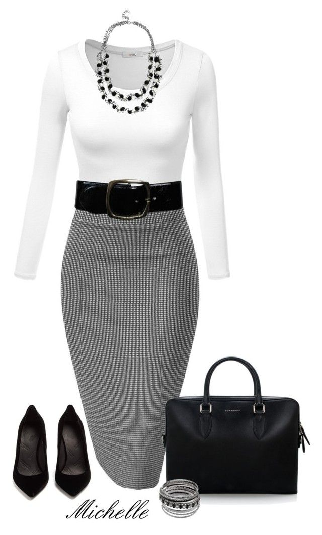 All Work & No Play by michellesherrill on Polyvore featuring Maison Margiela, Burberry and Chanel