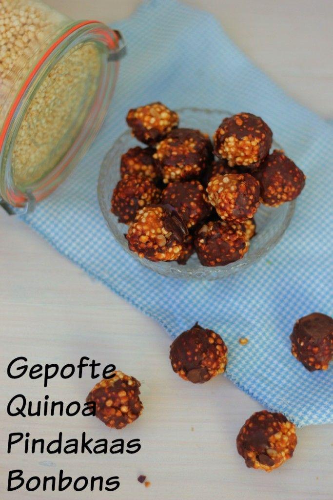 gepofte quinoa bonbons