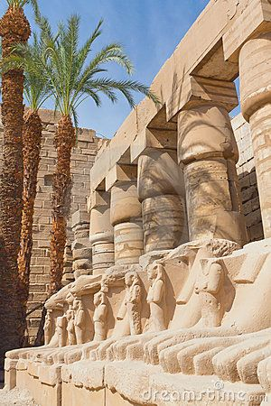Statues in Karnak temple ( Egypt )