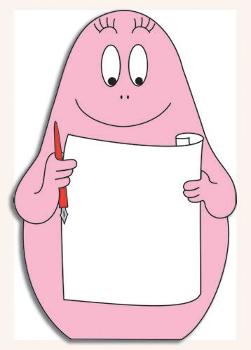 Notitieblok in de vorm van Barbapapa #Barbapapa #notitieblok #notitie