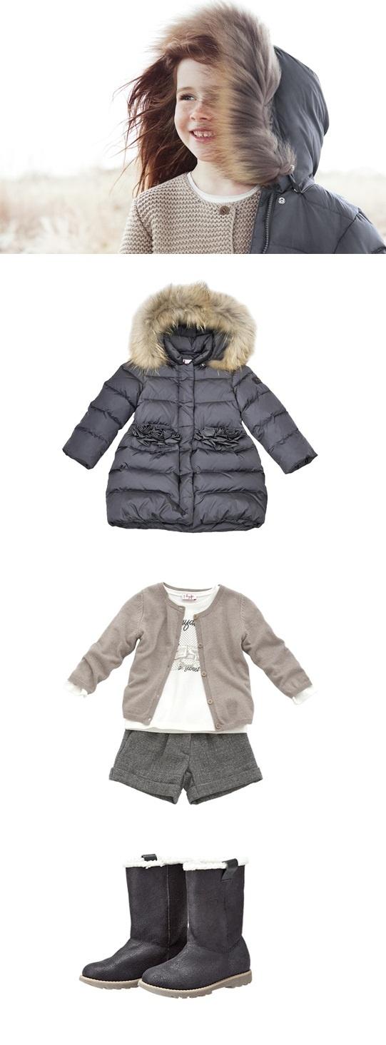 Winter Cocoon #winter #jacket #children #childrenswear #ilgufo #girl http://shop.ilgufo.it/it/collezione-ai/bambina-2-14-anni/look.html