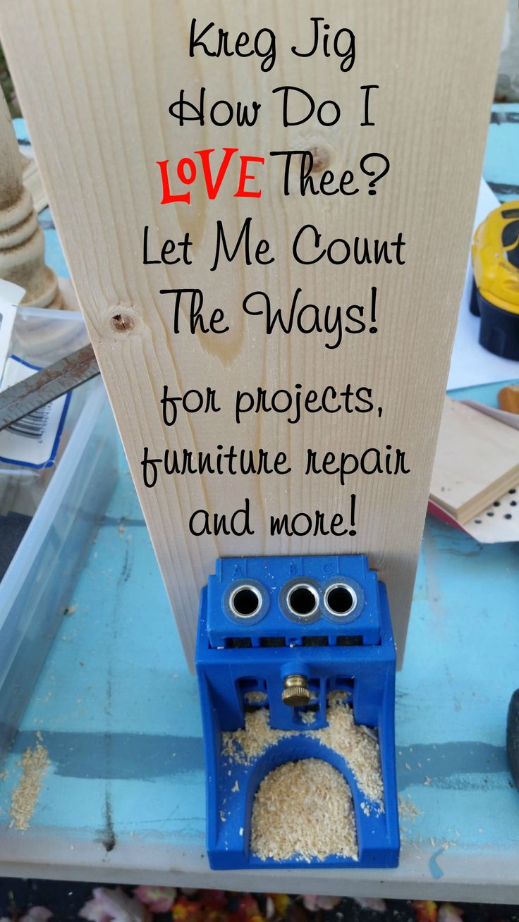 """""""I think every DIY woodworker should have at least 1 or 2 Kreg Jigs in the tool cabinet."""" See what Gail recommends at myrepurposedlife.com/how-to-use-a-kreg-jig"""