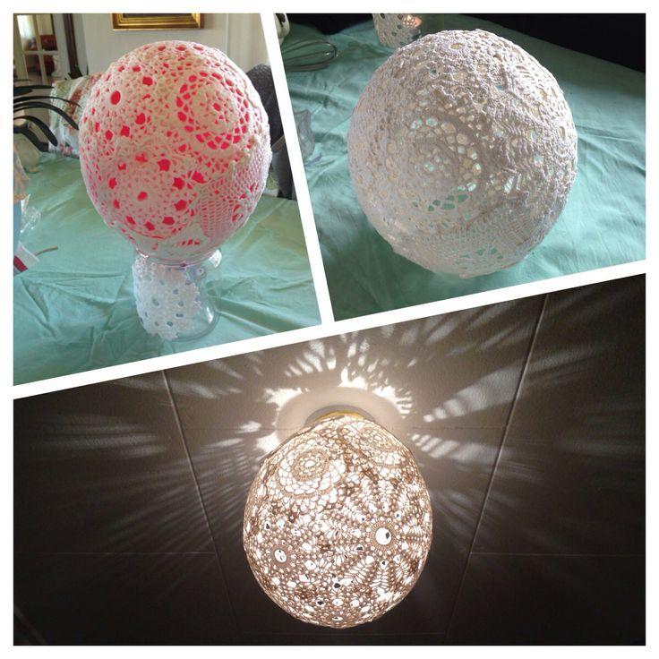 Lampeskærm / Doily lamp