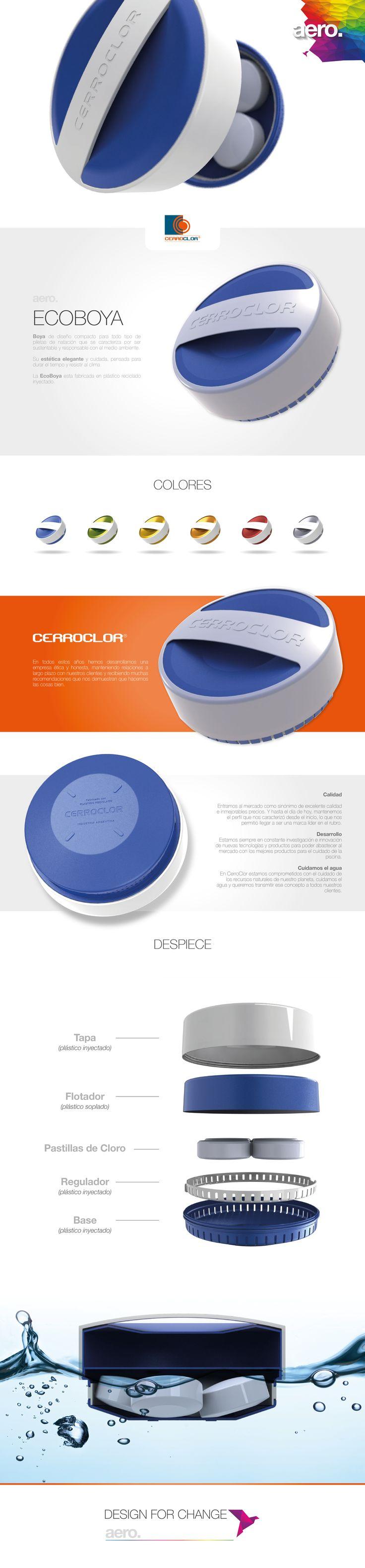 Desarrollo industrial de una bolla contenedora de pastillas de cloro para piscina para Cerroclor.
