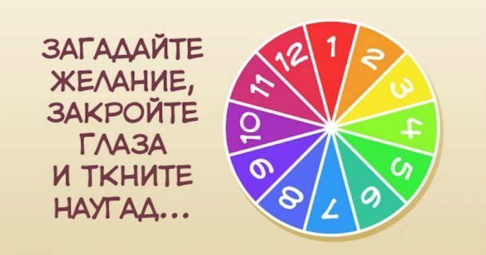 Посмотри внимательно на колесо фортуны, подумай о своем желании и выбери любую цифру и ты узнаешь, когда ждать его исполнения!