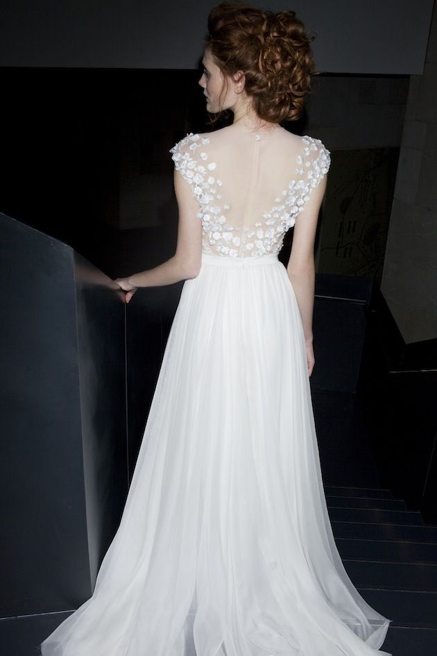 A beautiful look at the Mira Zwillinger wedding dress collection 2013-2014. This ethereal collection features delicate hand embroidery and ornate beading.