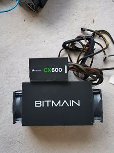 Bitmain AntMiner S3 Bitcoin Currency Miner & Power Supply - Excellent Condition