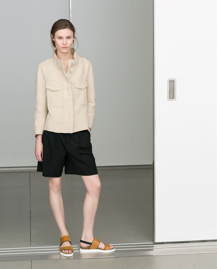Image 1 of LINEN BLAZER WITH FLAP POCKETS from Zara