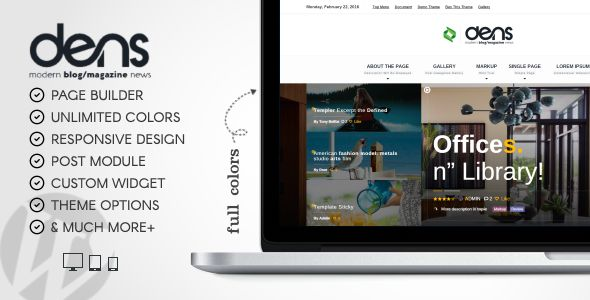 dens - Theme for Magazine And Blog