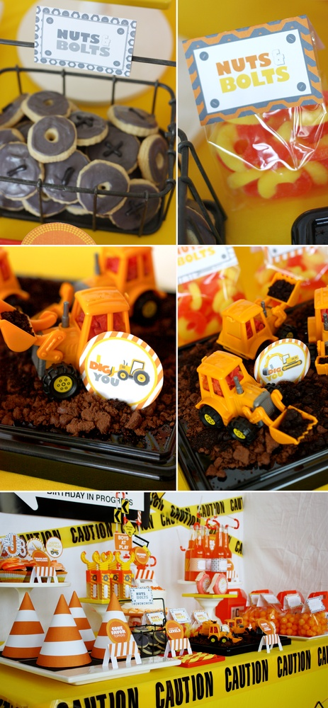 """Image of printable """"I dig you"""" Construction Boy Birthday Party- FULL collection by Wants and Wishes"""