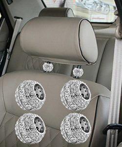 2-Pairs-Chrome-Car-Ice-Diamond-Bling-Headrest-Head-Rest-Collars-Interior-Decoration-for-Honda-Ford-Dodge-Toyota-0