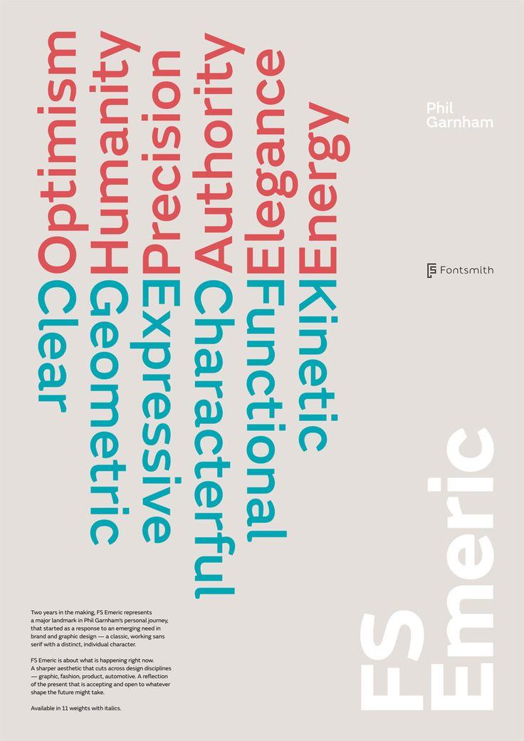 European Design - FS Emeric, Agency: Fontsmith, Agency URL: http://www.fontsmith.com, Category: 27. Original Typeface, Award: Bronze, Year: 2014, Country: United Kingdom, City: London