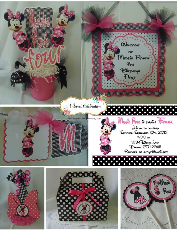 69 best Minnie Mouse Birthday images on Pinterest Happy birthday