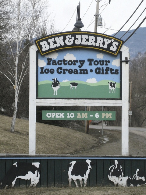 Picked up a load from Ben & Jerrys in Vermont with Joe one time. Had to sit for hours for our refer to reach freezing temp they required. As we wait in our truck a guy comes out with ice cream fresh off the line. This is a great memory for me.