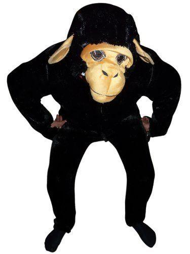 Tolles Affenkostüm, Einheitsgröße M, als Schimpanse zum Fasching oder Karneval