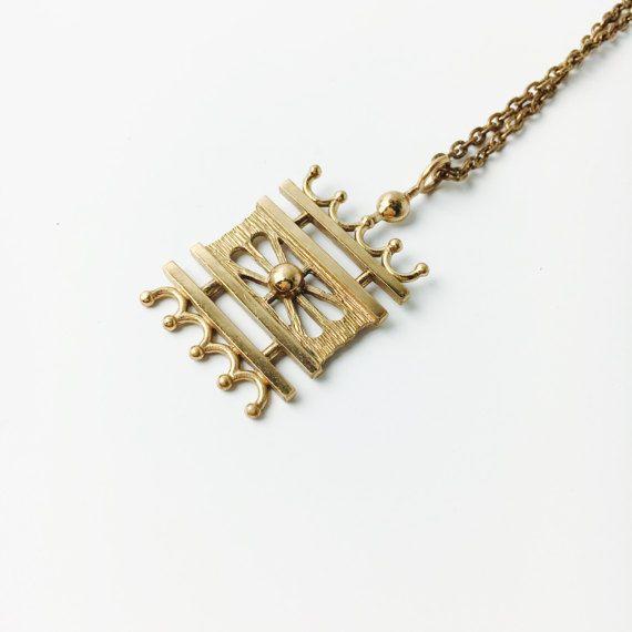 Pertti Peuri (FI), vintage modernist bronze necklace, 1970s. #finland | finlandjewelry.com #forsale