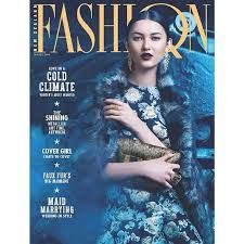 Fashion Quarterly - Winter Issue Featuring our Couture YSL Bow Earrings on the cover.