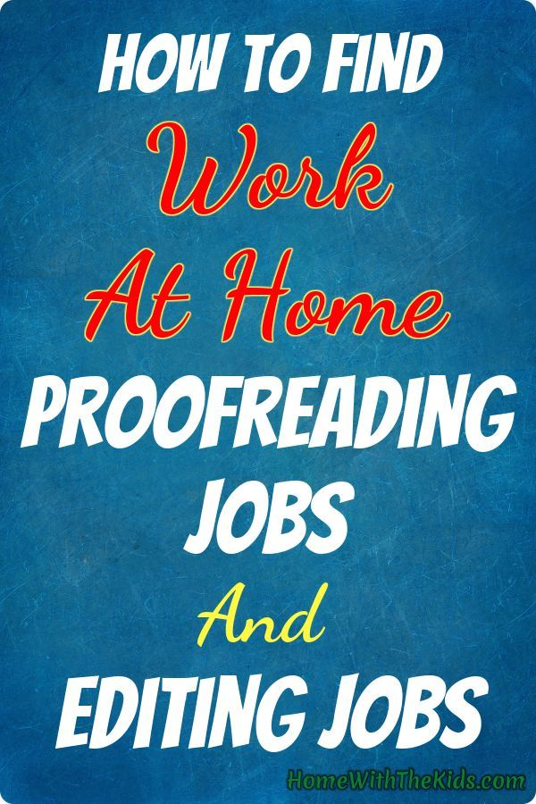 At home publishing jobs