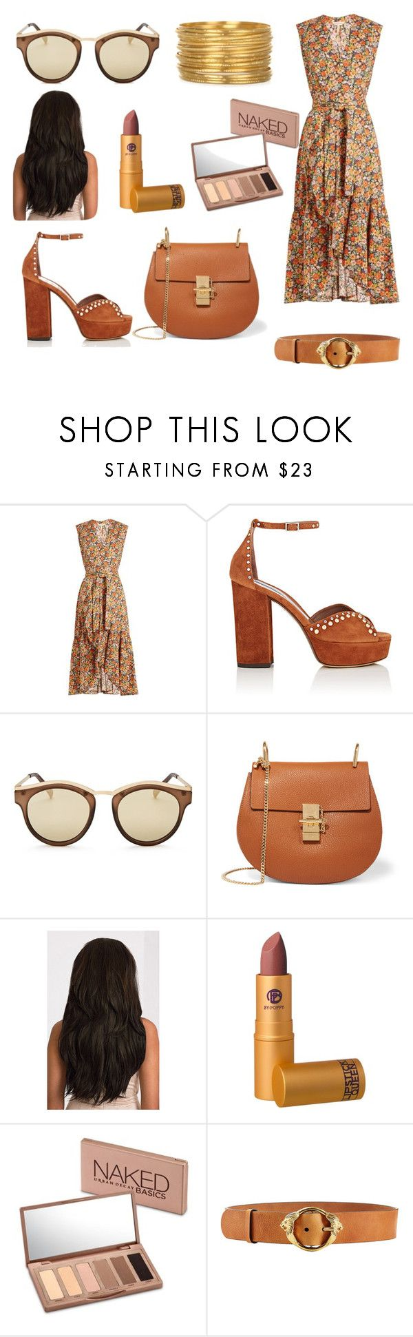 """""""Untitled #86"""" by mihaelamihu ❤ liked on Polyvore featuring Rebecca Taylor, Tabitha Simmons, Le Specs, Chloé, Lipstick Queen, Urban Decay and Roberto Cavalli"""