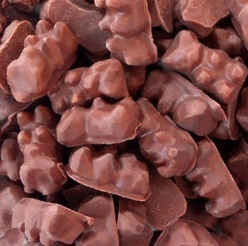 chocolate covered gummi bears... one of my guilty pleasures