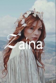 Zaina, lovely pretty, female baby names, Z baby names, strong girl names, unique baby names, baby girl baby names, middle short names, short girl names, names that start with Z.......................(Photo credit:www.wildandfreejewelry.com)