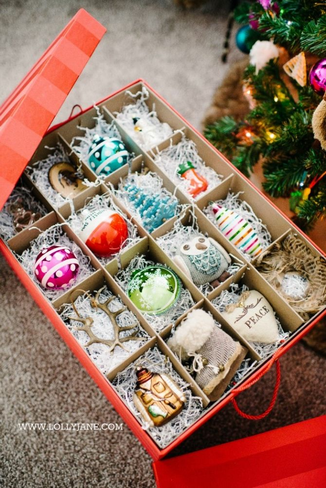 Pretty and durable Ornament Storage Boxes.