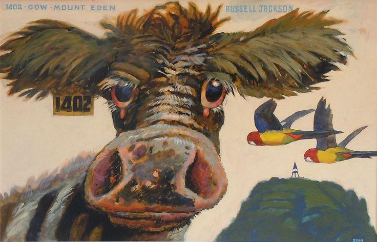 Parnell Gallery artist Russell Jackson 1402 Cow http://www.parnellgallery.co.nz/artworks/artist-russell-jackson/1402-cow-mt-eden/