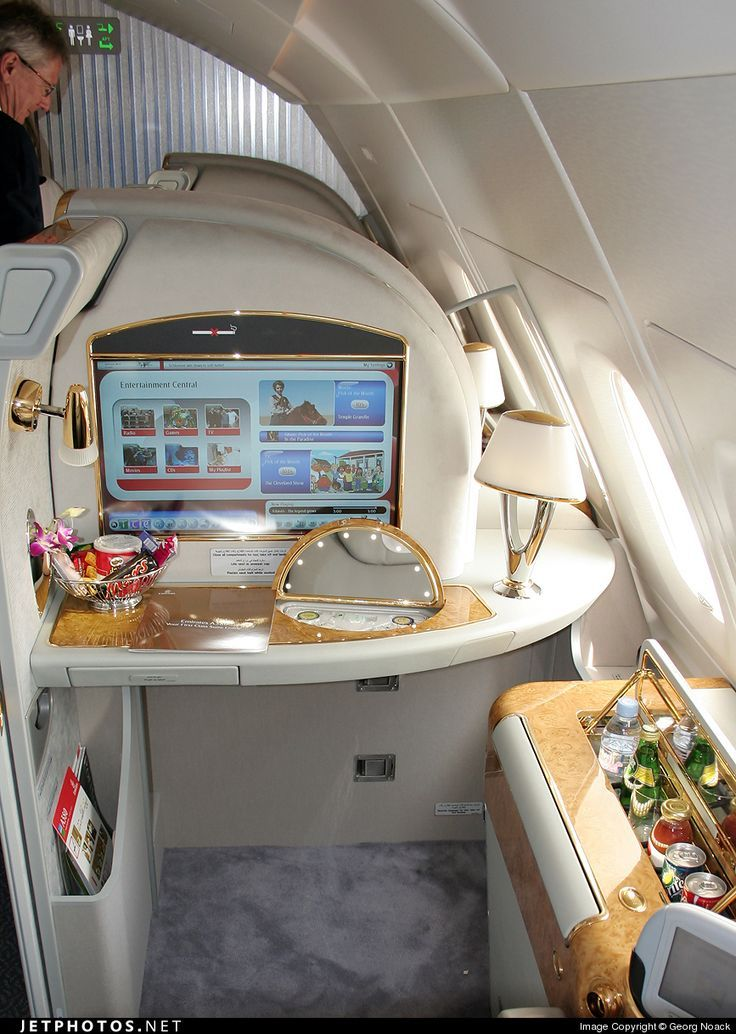 Emirates A380 first class Private jet interior, Luxury