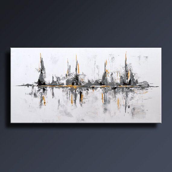 48 gran pintura ABSTRACTA Original sobre lienzo por itarts en Etsy