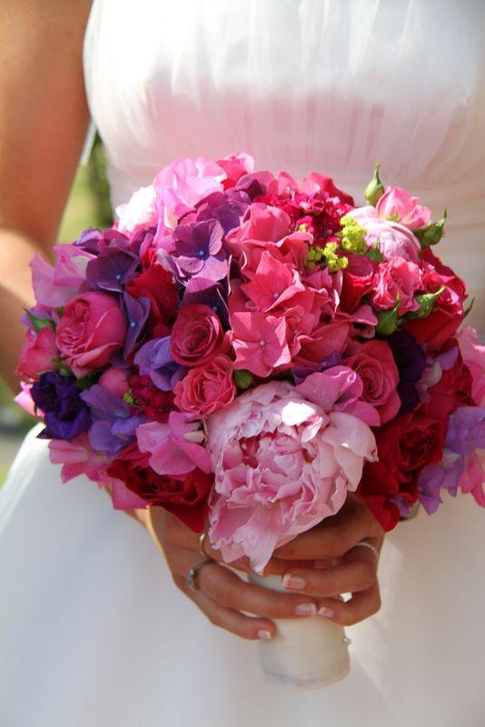 112 best Hot Pink Wedding Flowers Inspiration images on Pinterest