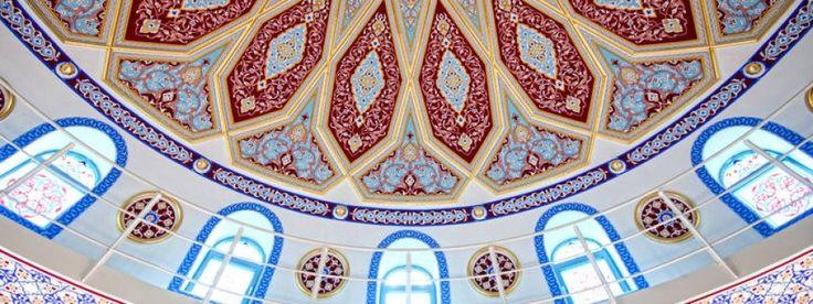 Innenansicht der Ditib-Merkez-Moschee in Duisburg-Marxloh, der größten Moschee in Deutschland. (FAZ)